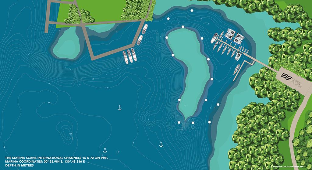 Raja Ampat Marina Map