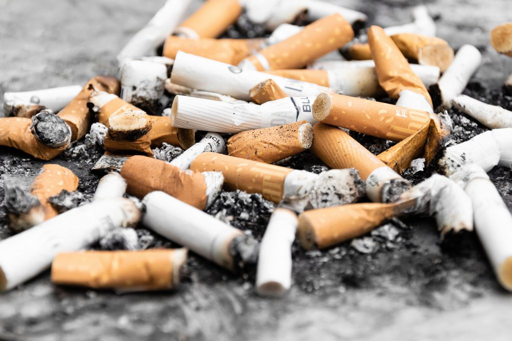 Cigarette butts contain plastic
