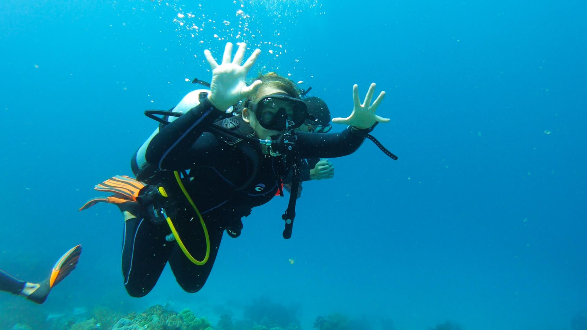 Get excited underwater