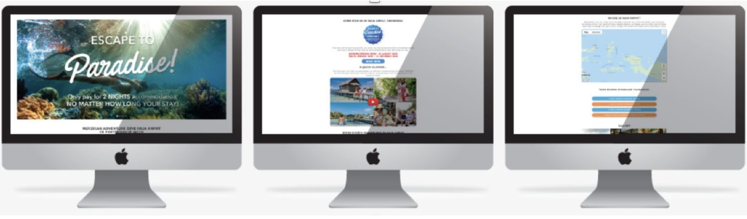 Customised Page for your Dive Travel Website